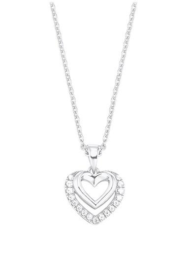 Amor Amor Kolye 925 Ayar Gümüş Zirkonlu - 2026252 Renksiz